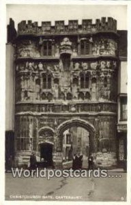 Christ Chru ch Gate Canterbury England, United Kingdon of Great Britain Unused