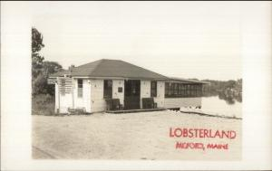 Milford ME Lobsterland 1950s-60s Real Photo Postcard