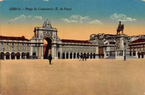 Portugal Lisboa Praca do Commercio T. do Paco Postcard