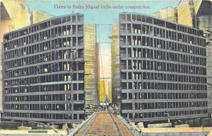 Ancon Panama Gates To Pedro Miguel Locks Posted Postcard