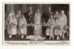 r2292 - H.R.H. Princess Mary with Husband and her Eight Bridesmaids - postcard