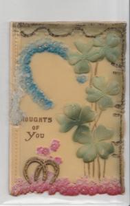 Christmas~Clifton Bingham~Painted Green Blue Pink Rubber~Die Cut Foldout~Novelty