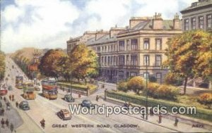 Great Western Road Glasgow Scotland, Escocia Unused