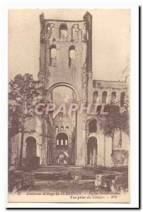 Former Abbey of Jumieges Old Postcard Notre Dame Church View from the Choir