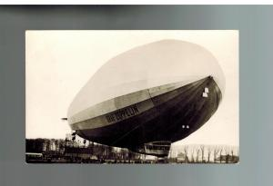 Original Mint RPPC Graf Zeppelin Tethered on Ground LZ 127 Postcard