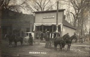 Beemer NE Post Office & RFD Mail Wagons c1910 Real Photo Postcard dcn