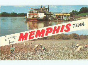 Pre-1980 TOURIST BOAT WITH PADDLEWHEEL Memphis Tennessee TN AE5937