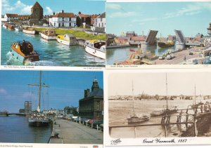 Great Yarmouth Boats The Haven Victorian 4x Postcard s