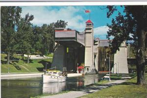 Miss Peterborough coming from world famous hydraulic Lift Lock, Ontario, Cana...