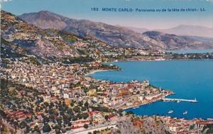 Monaco Monte Carlo Panorama vu de la tete de chien