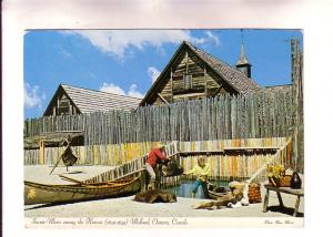 Sainte-Marie among the Hurons, Canoe and Animal Pelts, Midland Ontario, Photo...