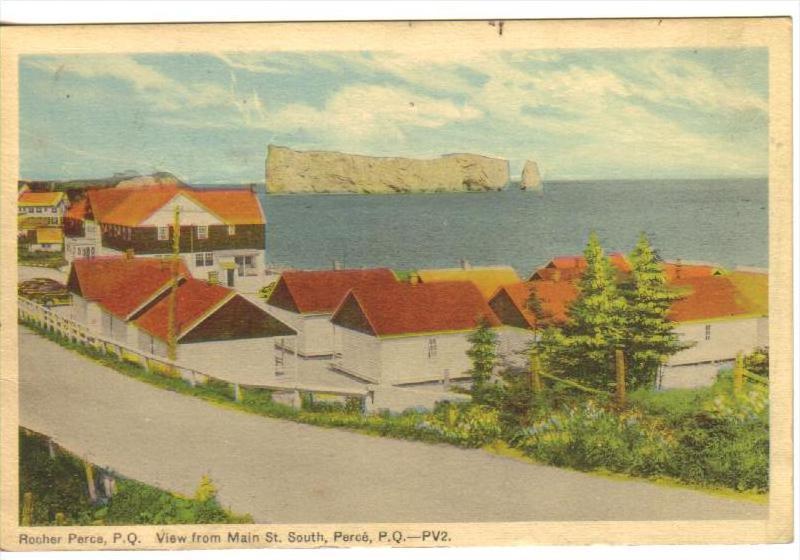 Main Street , South , PERCE , Quebec , Canada , 1930s-40s