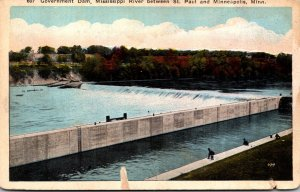Minnesota Minneapolis - St Paul Government Dam On The Mississippi River