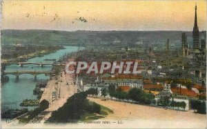 Old Postcard Rouen Panoramic View