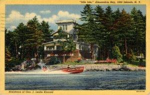 NY - Alexandria Bay. Idle Isle, Gen. Kincaid Residence
