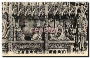 Old Postcard 'Cathedral of Chartres Choir Tour Fragment