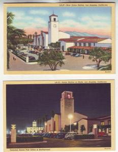 P553 JLs 1930-45 linen old cars union station los angeles california