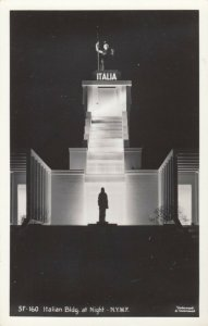 RP: New York World´s Fair 1930s ; Italian Bldg. at Night