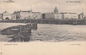 ST. PETERSBOURG , Russia , 1890s ; Le Pont du Palais
