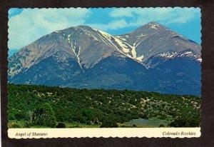 CO Angel of Snow Mt Shavano Colorado Rockies nr Poncha Springs Salida Postcard