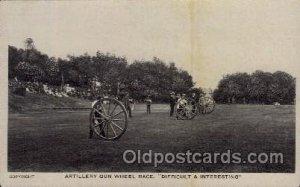 Track & Field Artillery Gun Wheel Race Unused very light corner wear close to...