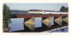 West Coast Express Train , VANCOUVER , B.C. Canada , 70-80s