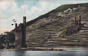 Mauseturm & Ruine Ehrenfels, Hesse, Germany, 1900-1910s
