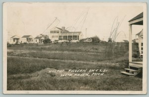 South Haven Michigan~Hilltop Tavern~Resort Cabins~Porch~1930s RPPC
