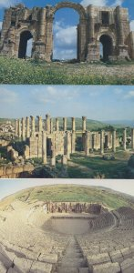 Jerash Arch Roman Amphitheatre Cathedral 3x Jordan Postcard