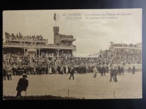 Belguim OSTENDE Les Tribunes du Champ de Courses HORSE RACING c1923 Old Postcard