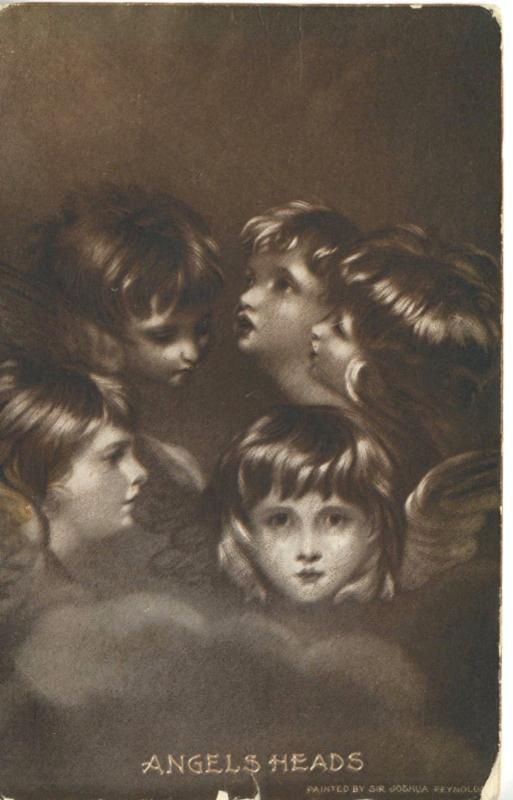 Angels Heads Fantasy Five Sir Joshua Reynolds Sheahan's c1907 Postcard D8