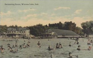Indiana  Winona Lake Swimming Scene