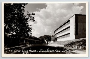 Des Moines Iowa~4-H Club House on Midway~State Fairgrounds RPPC 1950s Postcard