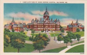 Maryland Baltimore Birds Eye View Of Johns Hopkins Hospital