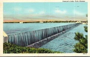 Kansas Pratt Veteran's Lake 1952 Curteich