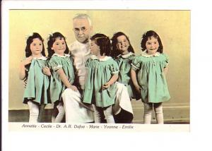 Dionne Quintuplets and Dr Dafoe, North Bay, Ontario, Canada Quints