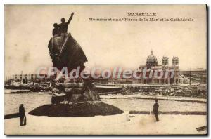 Postcard Old Marseille Monument to the Heroes of the Cathedral and My