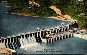 Missouri Bagnell Dam and Lake Of The Ozarks 1956 Curteich