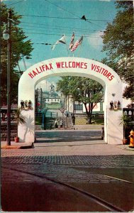 Halifax Canada Parade Grounds Postcard used 1957