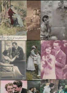 Art Nouveau Romantic Couples Lot of 20 Postcards 01.08