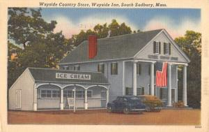 Sudbury Massachusetts Wayside Inn Country Store Antique Postcard K38489