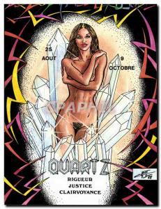 Postcard Modern Naked erotic Charles Berg Zodiac Etruscan Quartz