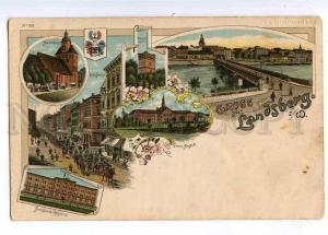 189993 Poland GRUSS aus LANDSBERG Gorzow Wielkopolski LITHO