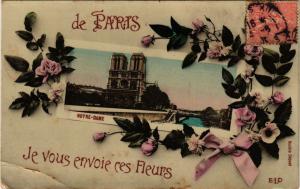 CPA Je vous envoie ces fleurs de Paris 4e - Notre-Dame (301852)