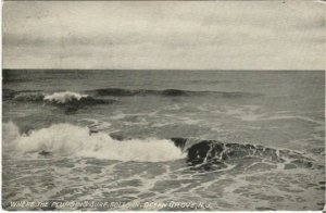 Where the Plunging Surf Rolls In, Ocean Grove, New Jersey Vintage Postcard Ocean