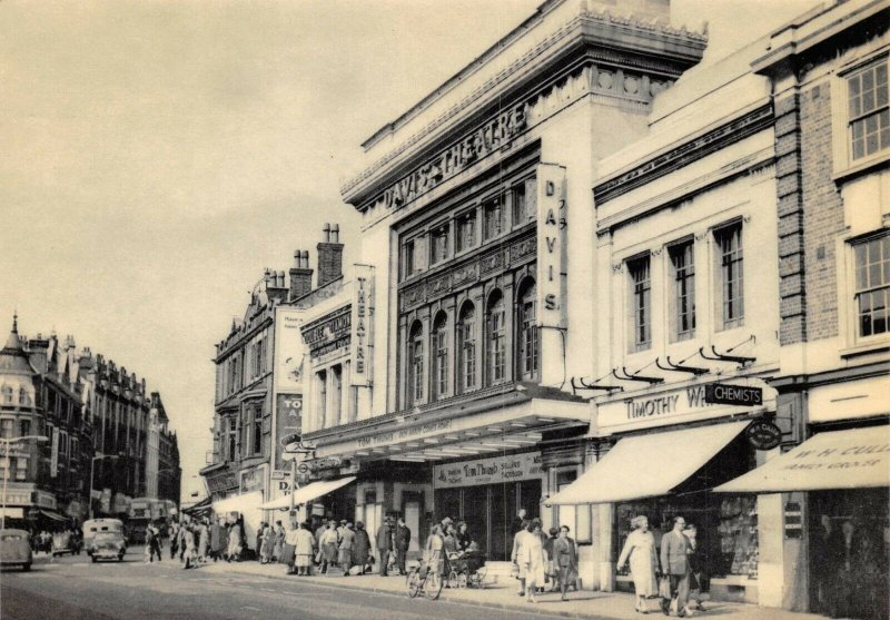Postcard, 1959 The Davis Theatre High Street Croydon, Surrey, London repro 57Z