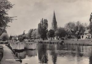 Thorpe Green Riverside Norwich 1950s Real Photo Postcard