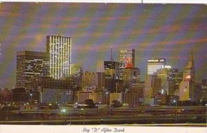 Texas Dallas Big D At Night 1972