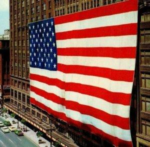 Richard C. Brege Worlds Largest Flag Detroit Michigan Hudson Co Woodward Ave