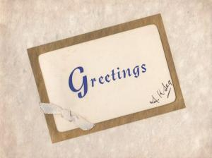 Northampton Methodist Church Womens Social Circle 1900s Greetings Card